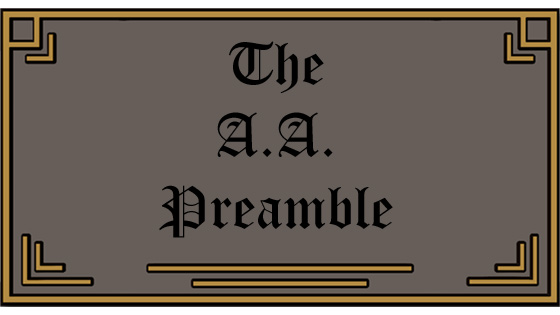 The AA Preamble