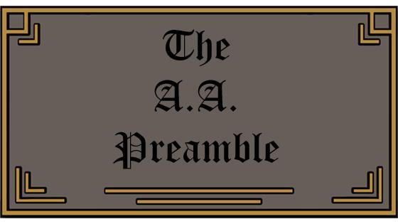 The AA Preamble