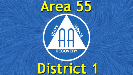 Alcoholics Anonymous - Area 55 - District 1
