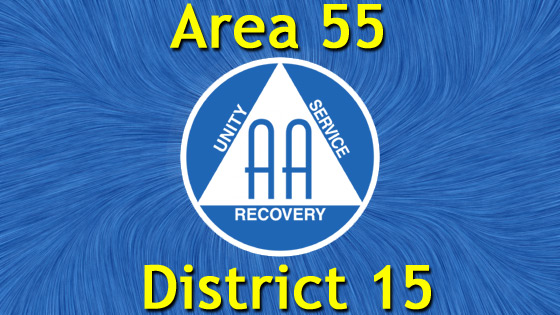 Alcoholics Anonymous – Area 55 – District 15