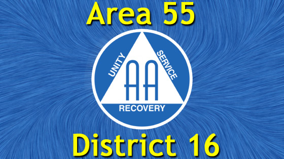 Alcoholics Anonymous – Area 55 – District 16